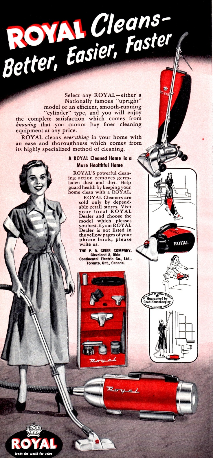 best images about vacuuming advertising poster royal vacuum cleaner ad 1948