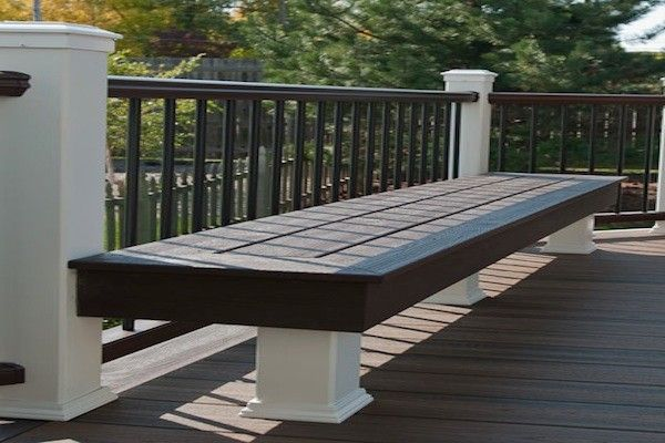 Trex Deck Bench In Libertyville Built By Rock Solid