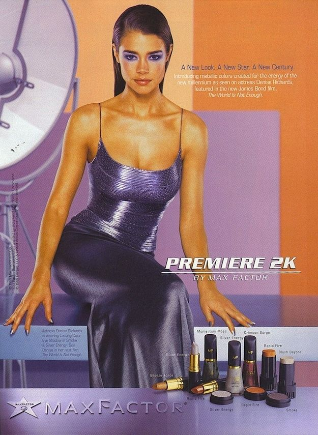 Denise Richards for Max Factor | 20 Dated Celebrity Endorsements From Over A Decade Ago