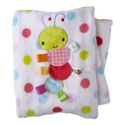 Taggies Infant Girls' Plush Blanket - White/Pink $16.99