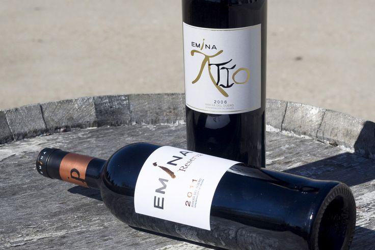 Atio y Reserva dos delicias de Emina Denominación de Origen Ribera del Duero. www.eminashop.es