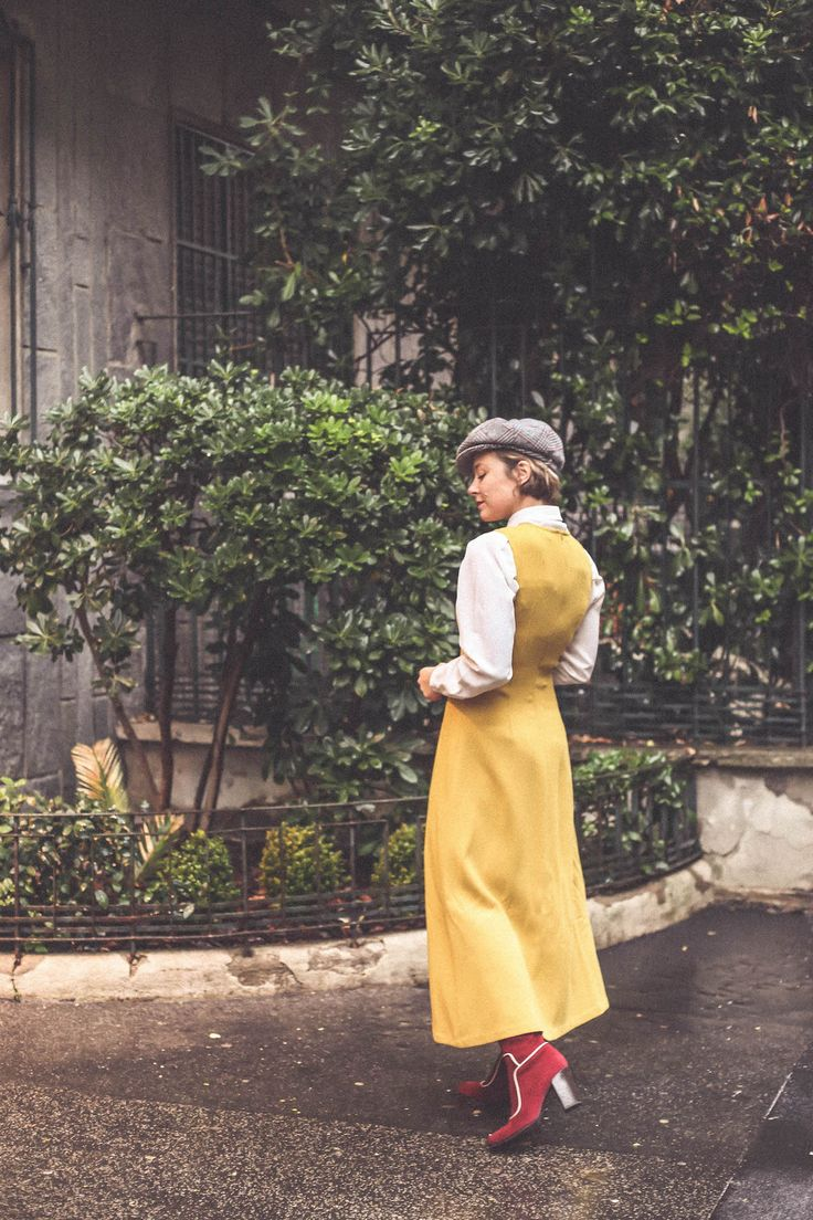 Parosh dress  vintage style boots style blogger