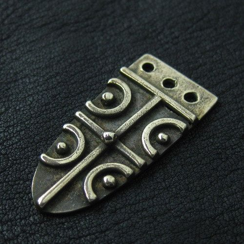 Bronze Anglo-saxon strap end by Sulik on Etsy