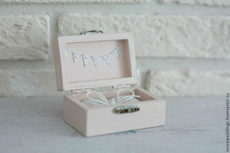 Купить Шкатулка для колец - бледно-розовый, шкатулка, шкатулка деревянная, шкатулка ручной работы