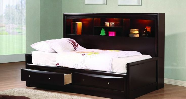 85 best twin bed frame images on pinterest queen beds single beds and twin beds. Black Bedroom Furniture Sets. Home Design Ideas