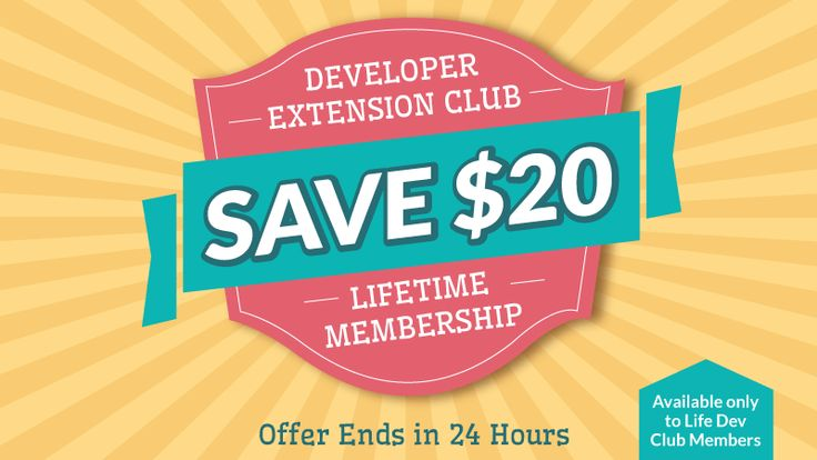 Sale Developer extension Club para Joomlashack
