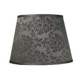 Damask Lamp Shade - Gray - Photo