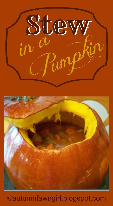 Brandi Raae: Festive Fall Feast: Stew in a Pumpkin