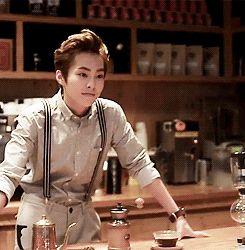 Xiumin meets smexy barista... *melts* #Xiumin #minseok