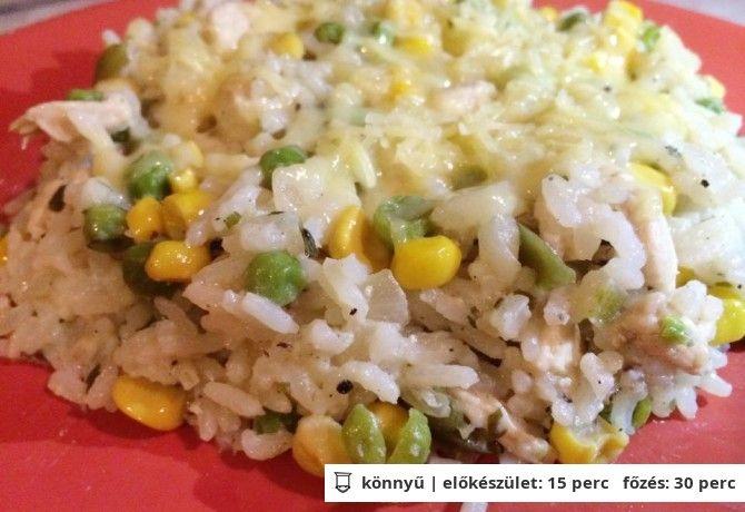 Brazil csirkés rizs 600 kcal
