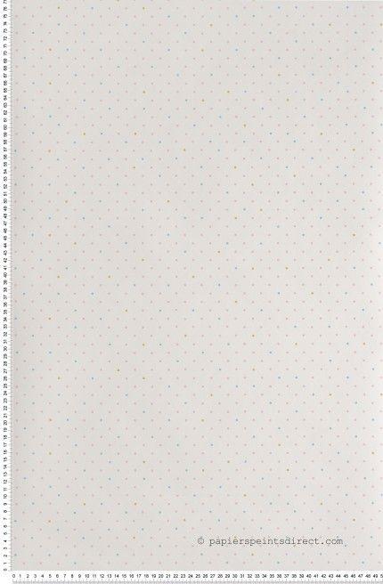 Pois tricolores - papier peint Lutèce