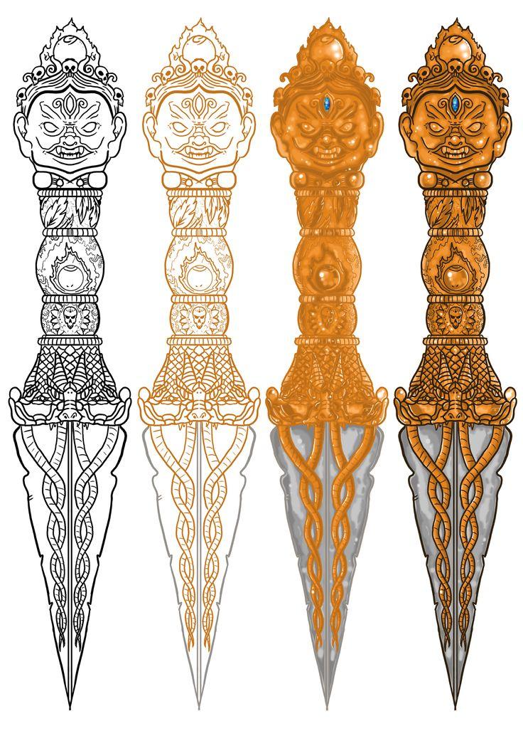 Uncharted 2 phurba dagger by PretorianDesign on Newgrounds ...
