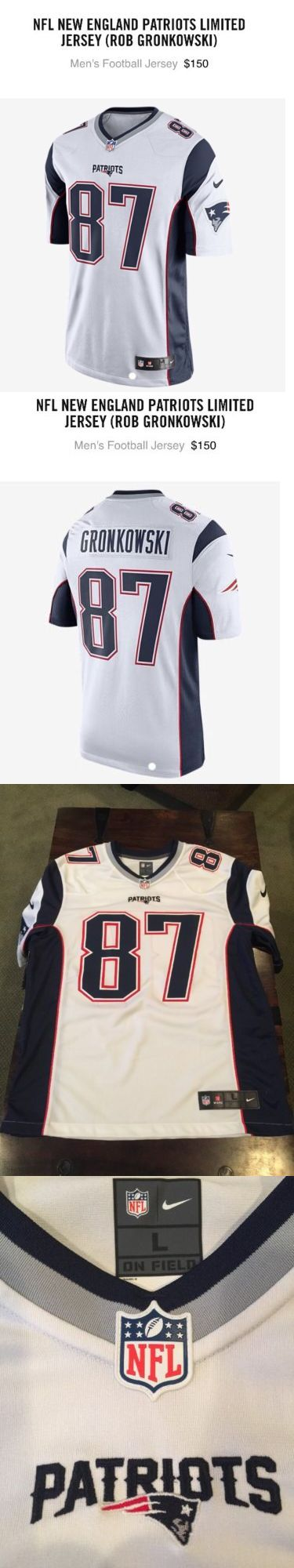 Men 159109: New England Patriots Nike Limited Jersey Rob Gronkowski Large # 87 White -> BUY IT NOW ONLY: $125 on eBay!