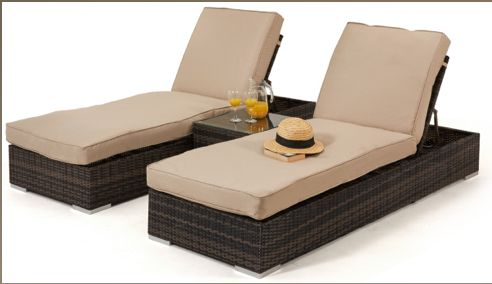 Orlando Sun Lounger Set - Koncept Furnishing