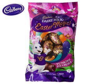 turkish delight easter bunny | Cadbury Turkish Delight Mini Eggs 135gm