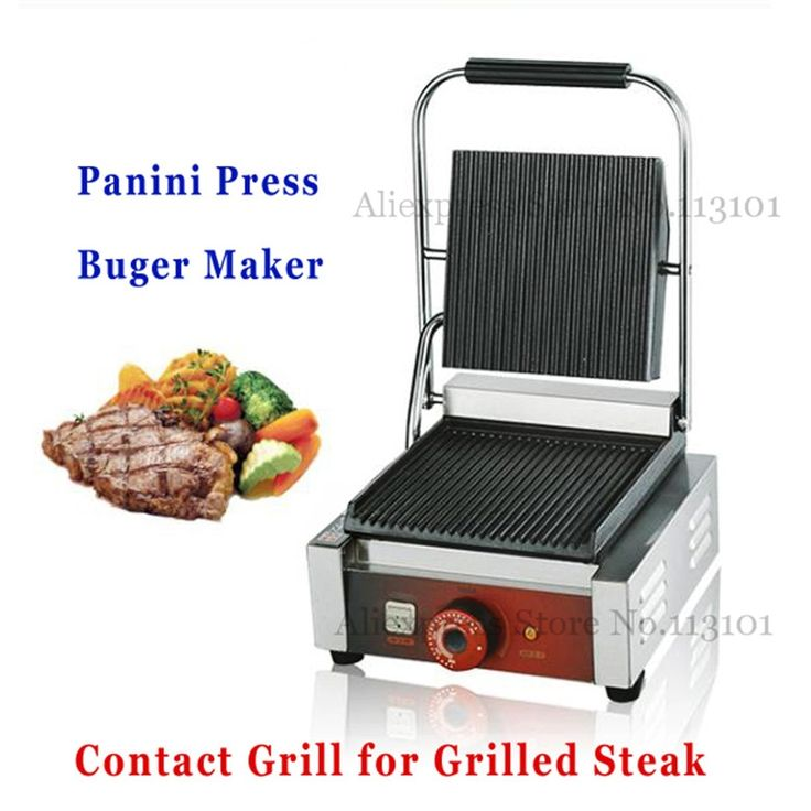 138.70$  Buy now - http://alibei.worldwells.pw/go.php?t=32680866980 - Electric Grill Griddle, Sandwich Panini Press Grill Sandwich Maker Commercial Teppanyaki Barbecue Griddler
