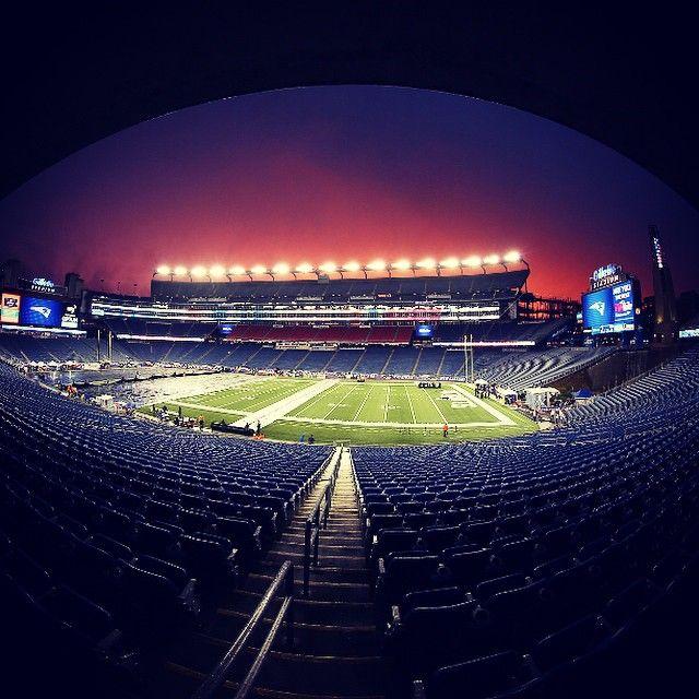 Tonight's Sunset At Gillette Stadium