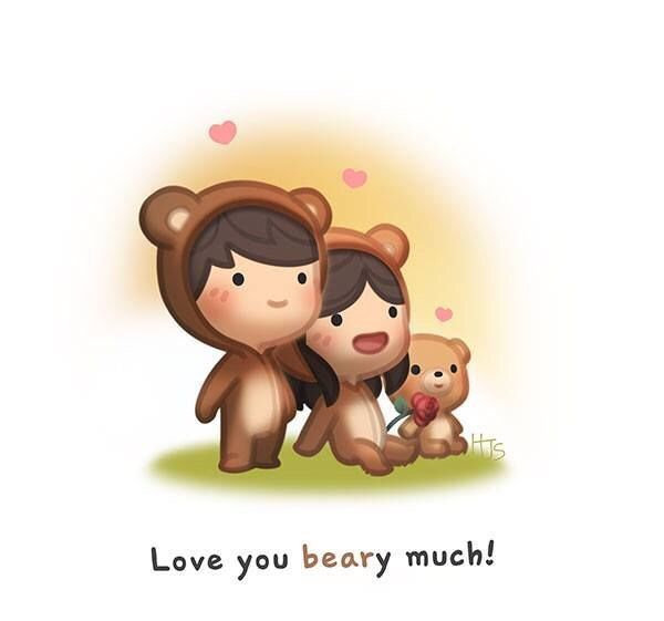 H.H. Tu Y Yo, Usando Sueteres Co Un Gran Munffin. Te Amo Bear. Te Amo Hannah.