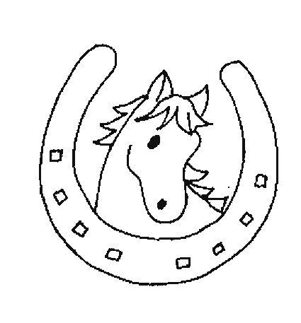 coloriage cheval colorier dessin imprimer