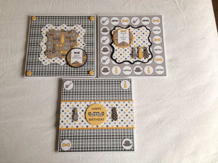 "3 cards using Craftwork cards ""suits you sir' papers."