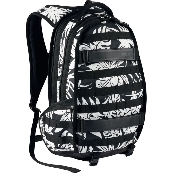 Nike SB RPB Graphic Tropic Skateboarding Backpack Black White BagsSkateboardingNike BagsBackpacksGraphicsSkateboard