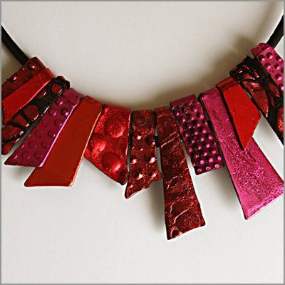Barbara lees glorious necklace - probably not leather but would love to try it in leather!
