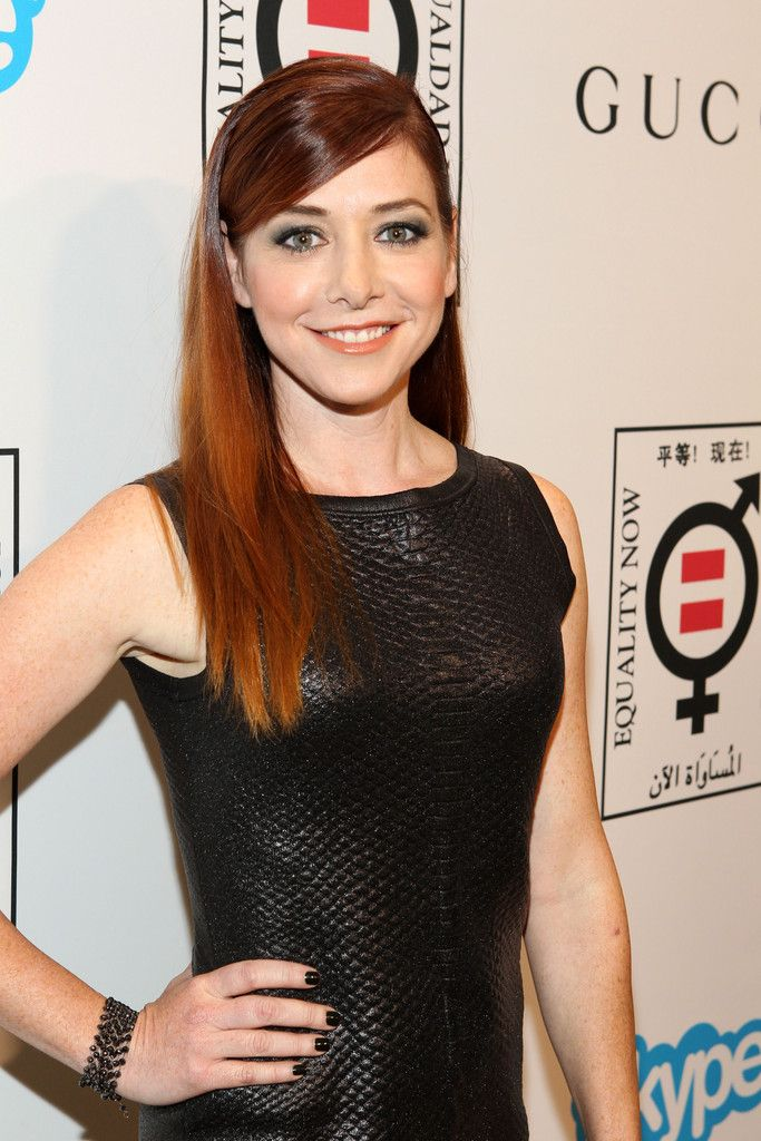 Alyson Hannigan long straight hair.