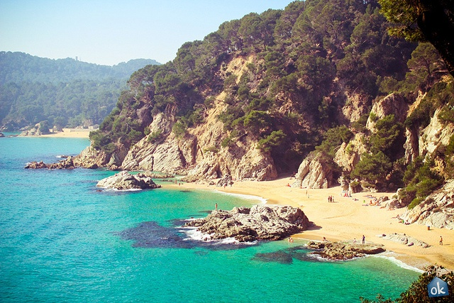 One of the best beaches in Costa Brava, Playa Fenals