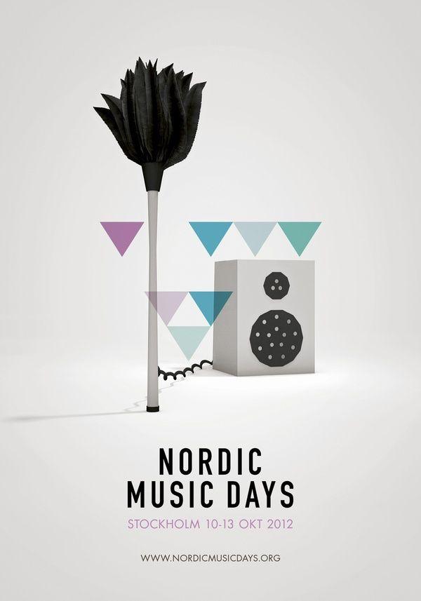 Nordik Music Days - Poster design - geometric - Scandinavian