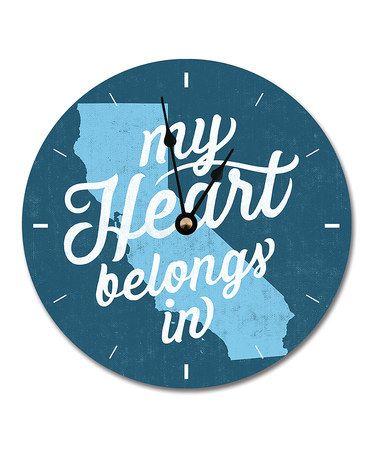 My Heart Belongs in California Clock #zulily #zulilyfinds