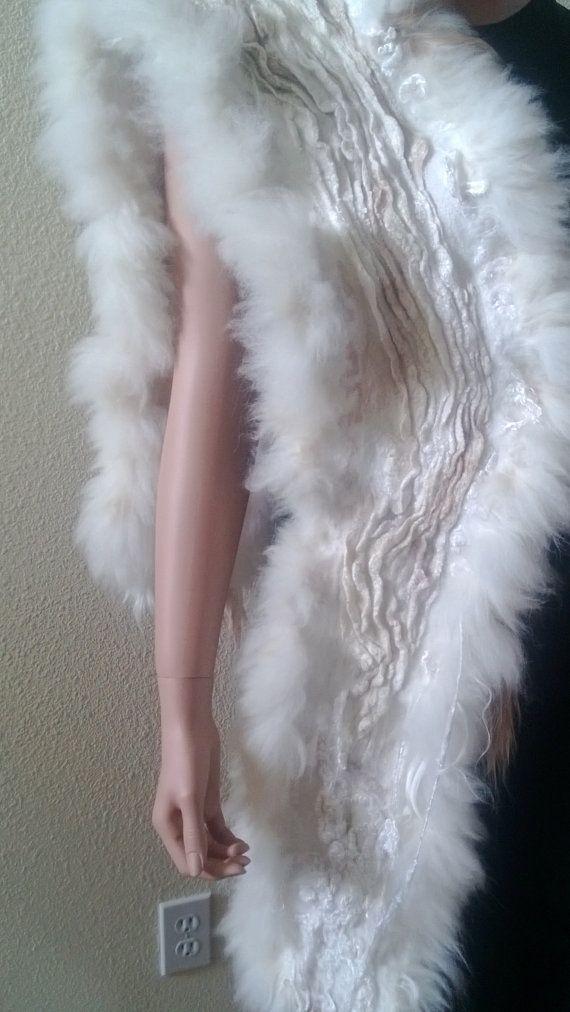 Felted Scarf Alpaca by RaisaFelt on Etsy, $189.00