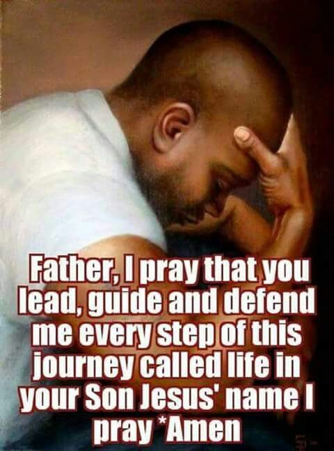 A praying man!