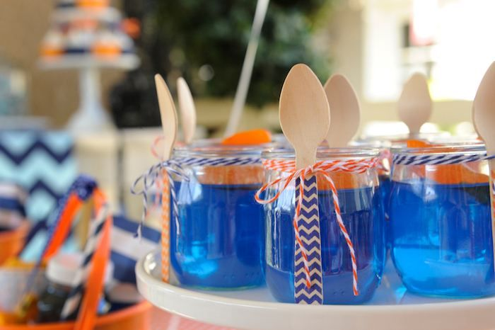 Preppy Whale Themed Birthday Party
