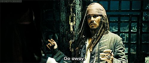 pirates of the caribbean quotes | Pirates of the Caribbean Quote (About go away gifs funny)