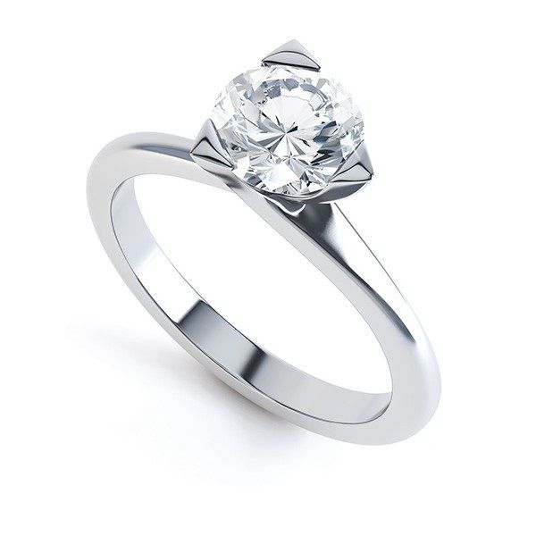 """Trilly"" THREE CLAW SOLITAIRE DIAMOND ENGAGEMENT RING Beautifully simple three claw diamond solitaire engagement ring, mirror-polished and set with a perfect round brilliant cut diamonds, embraced within a three claw setting."