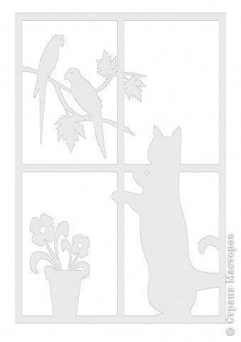 кошка, птички и цветочки фото 2