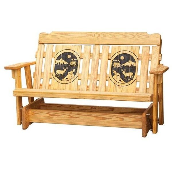 American Made Garden Gliding Bench ($394) ❤ Liked On Polyvore Featuring  Home, Outdoors · Outdoor Rocking ChairsOutdoor ...