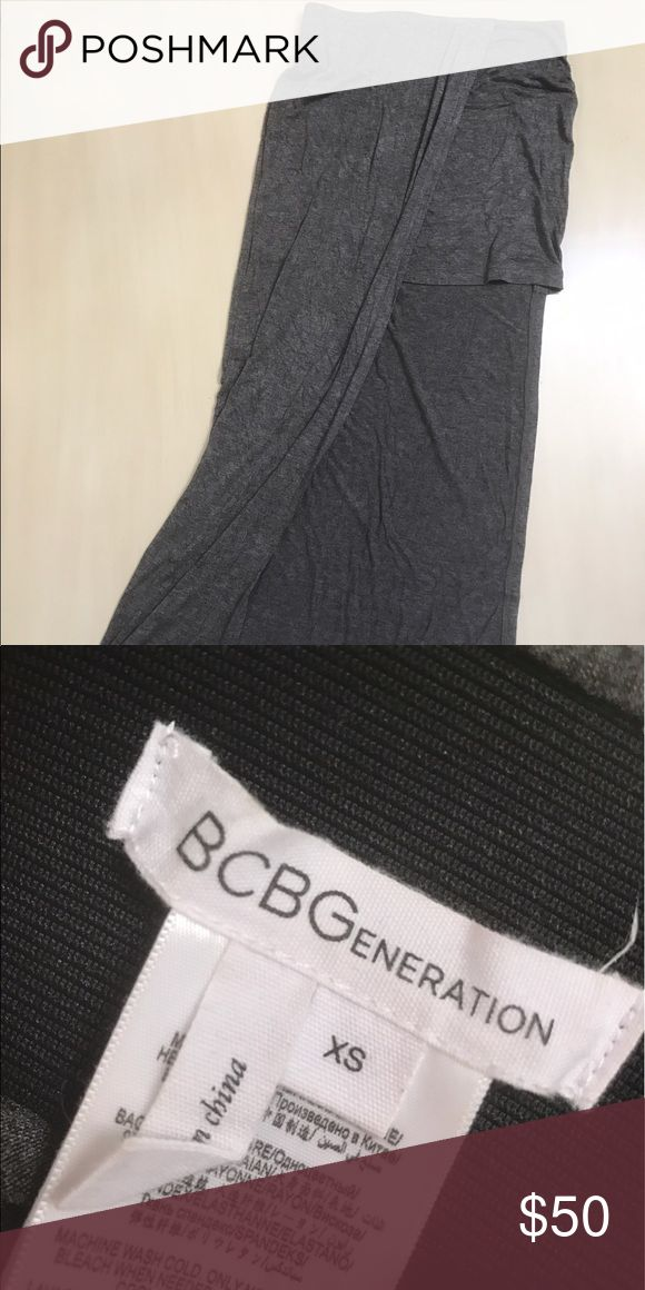 BCBGeneration Skirt Semi-Maxi Skirt that shows left leg. Like new! No tags, but never been worn. BCBGeneration Skirts Asymmetrical
