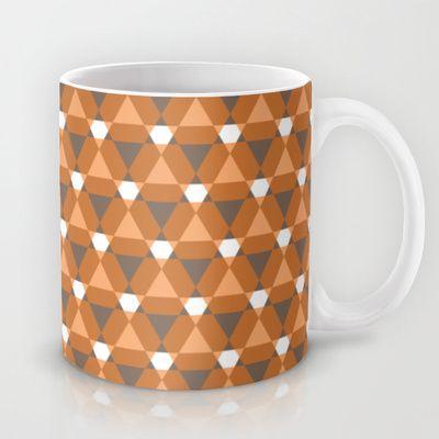 Reception retro geometric pattern Mug by emma method - $15.00