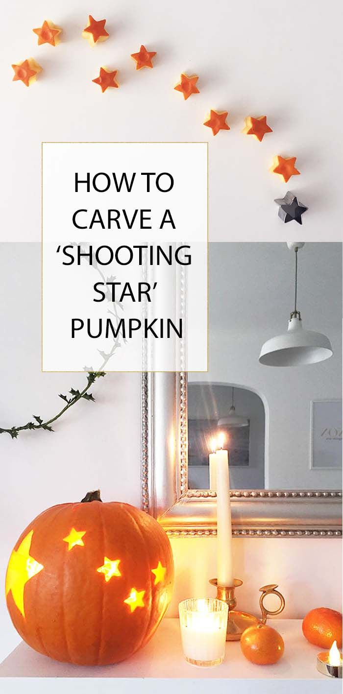 How to carve a shooting star halloween pumpkin