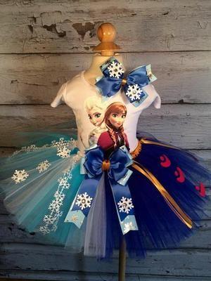 Tutus para niñas con temática de Frozen