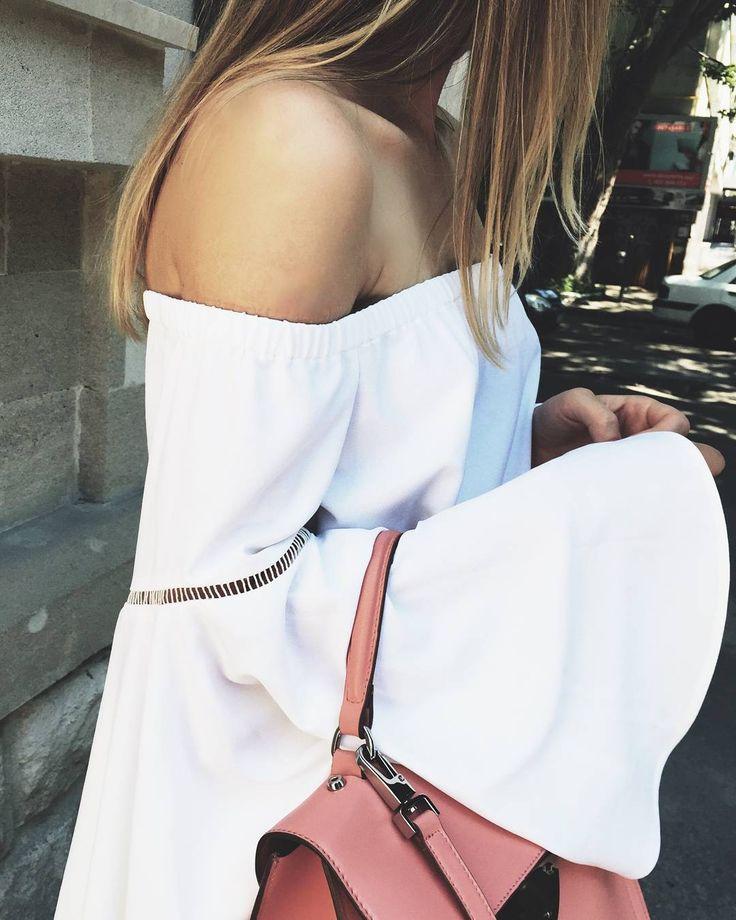 Boho Style  #maison #raquette #maisonraquette #white #offshoulder #new #collection #summer #trends