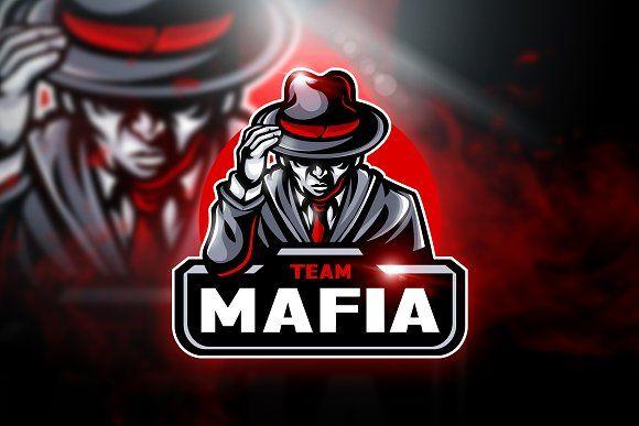 Mafia Team Mascot Esport Logo Team Logo Design Professional Logo Design Photo Logo Design