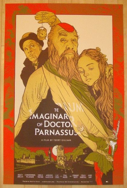 """2010 """"The Imaginarium of Doctor Parnassus"""" Movie Poster by Martin Ansin at JoJo's Posters"""