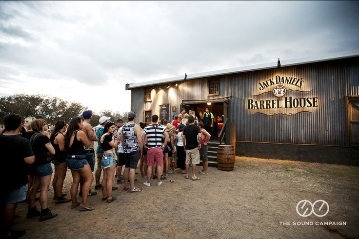 Punters queuing up to enter Barrel House at Summerfieldayze 2013.  www.thesoundcampaign.com