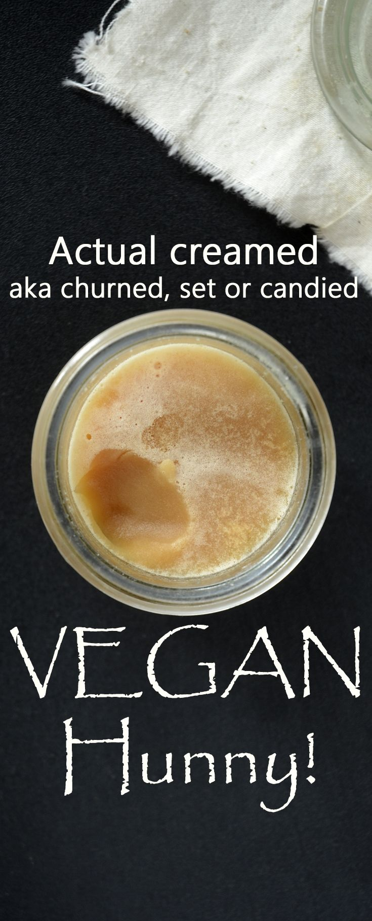 Actual creamed, set, spun, churned or candied vegan 'honey'