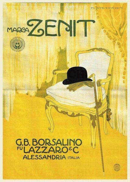 Marcello Dudovich G.B. Borsalino fu Lazzaro & C. Marca Zenit, 1911