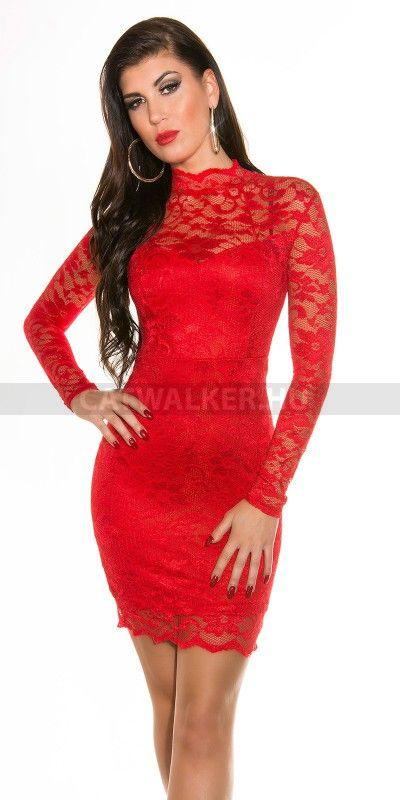 Alkalmi ruha K18309 - piros