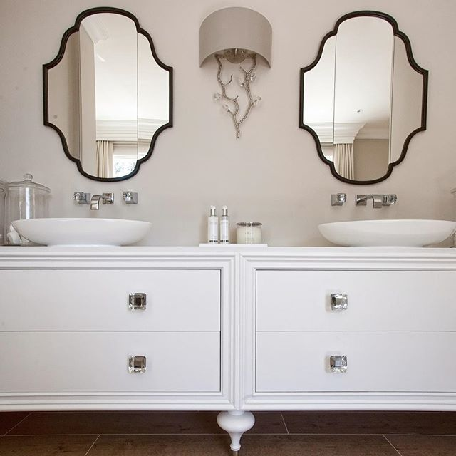 His And Hers Hampton Style Vanity Units With Counter Top