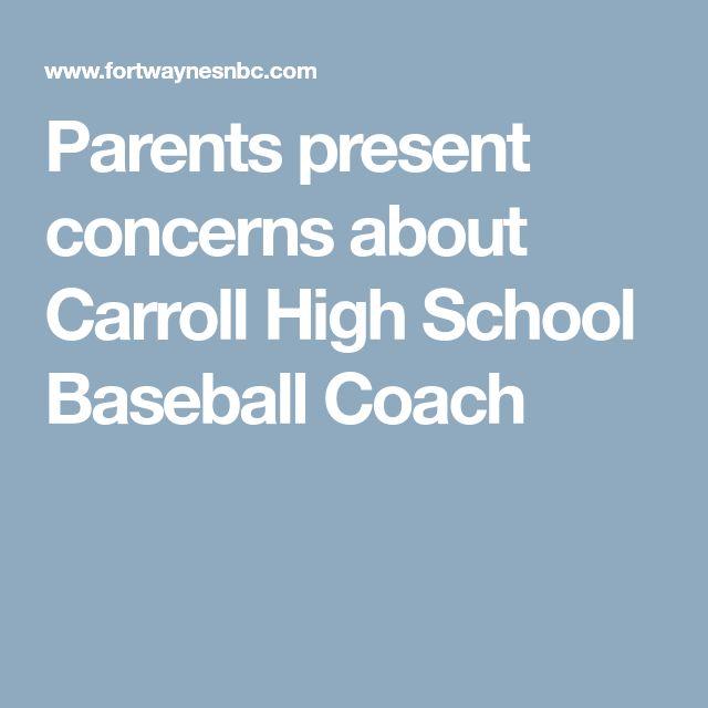 Parents present concerns about Carroll High School Baseball Coach